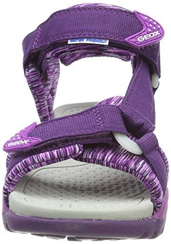 Geox Borealis Girl a, Sandalias con Punta Abierta Para Niñas Violett (Violet/Purple)