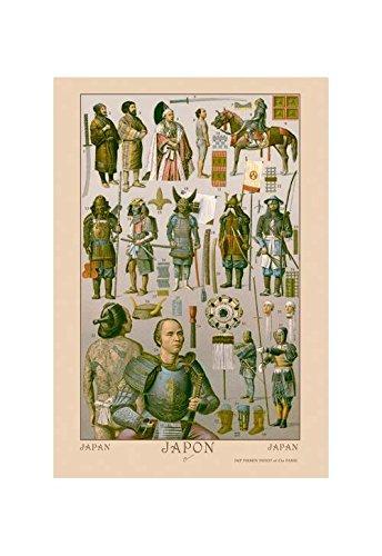 Buyenlarge Japan - Ainos Military Costume Print (Canvas 24x36) ()