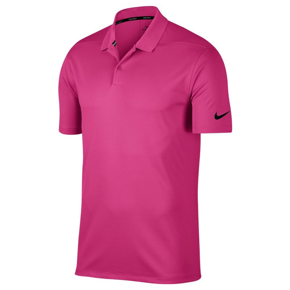 Nike Dry Victory Solid Men's Golf Polo (Vivid Pink, X-Large) by Nike