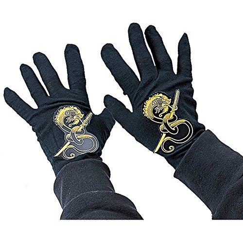 Rubies Childs Black Ninja Gloves