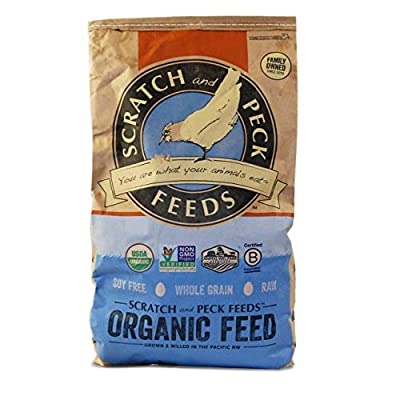 Organic Layer Feed with Corn for Chickens and Ducks - Non-GMO Project Verified and Soy Free - Scratch and Peck Feeds