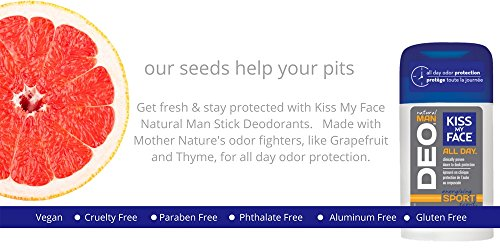 Kiss My Face Natural Man Sports Deodorant, 2.48 Ounce (Pack of 36) by Kiss My Face (Image #5)