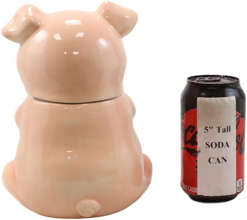 Babe Schwein Party Keramik Ebros Keksdose mit Tiermotiv Hosting-Zubeh/ör Sammlerst/ück 20,3 cm hoch Schwein f/ür K/üche Landhausstil rustikal