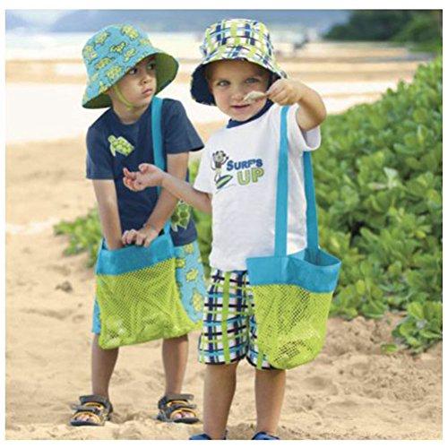 WINOMO Strand Spielzeug Tasche Aufbewahrungstasche Einkaufstasche für Sandspielzeug Kinder