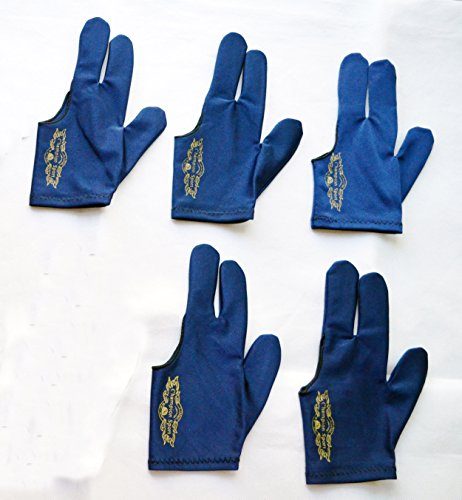 Champion Sport Dark Blue Left Hand Billiards Gloves for Pool Cues - Wear on the Left Hand, Buy Three GET ONE Free