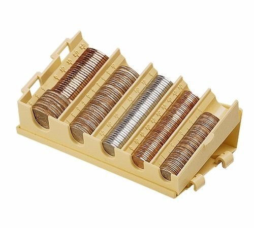 MMF Industries Compact Coin Organizer, 5 Compartments, Sand, 3-Pack (221477703)