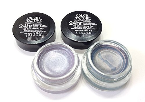 Pack of 2- Maybelline Color Tattoo Eyeshadow Shimmering Sea & Sunwashed Sky