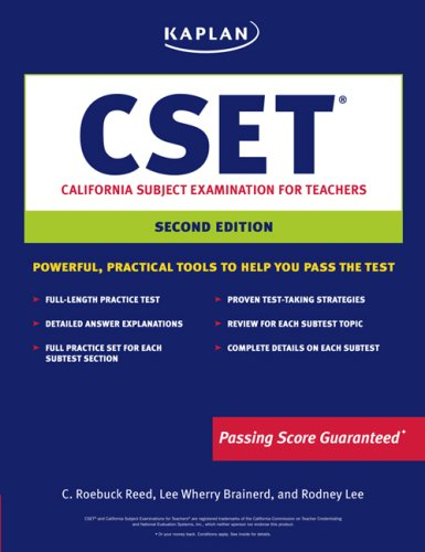 Kaplan CSET: California Subject Examination for Teachers (Kaplan Cset: The California Subject Examination for Teachers)