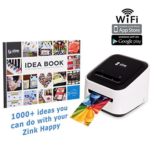 Digital Scrapbook Ribbon (Zink Mobile Photo Printer Multifunction Wireless Color Label instagram Portable Digital Photo Booth Printer Works With Mobile Phone iPad iPhone Tablets Art Printer Mailing Address Label + FREE BOOK)