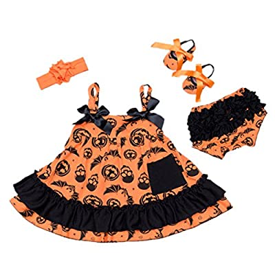 Cute Ruffle Infant Halloween Dress by Bigface Up