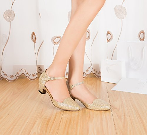 Miyoopark femme 4 Gold Salle de 5cm bal Heel Bq78aTnB