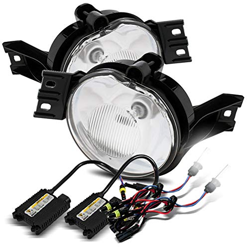 Modifystreet 6000K HID/For 02-08 Dodge Ram 1500/03-09 Ram 2500/3500/04-06 Durango Clear Fog Lights Kit