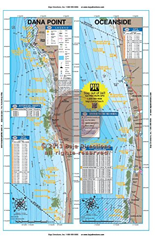 Amazon.com : Baja Directions, Inc. California Fishing Maps ...