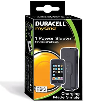Duracell myGrid iPod Touch Power Sleeve Interior Negro ...