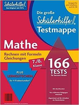 Testmappe Mathe Rechnen Mit Formelngleichungen Kl 7 8 Amazonde