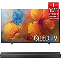 Samsung QN75Q9FAM 75-Inch 4K Ultra HD Smart QLED TV (2017 Model) w/ Samsung HW-MS650/ZA Sound+ Premium Soundbar + 1 Year Extended Warranty