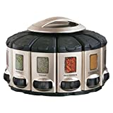 Kitchen Art Professional Select-A-Spice Auto-Measure Carousel, Satin