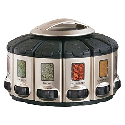 KitchenArt 57010 Select-A-Spice Auto-Measure Carousel Professional Series, Satin (Carousel Spice Kitchenart)