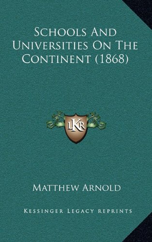 Schools And Universities On The Continent (1868) PDF