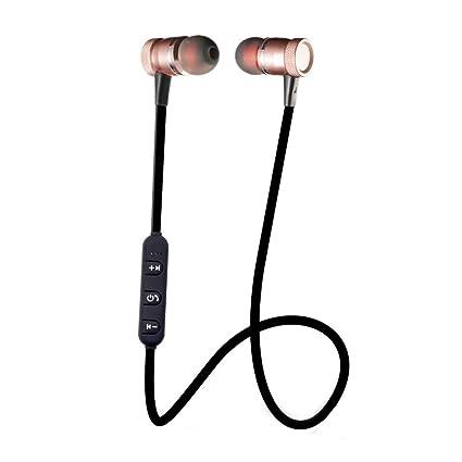 auriculares in ear headphone de alta calidad deportivos Sannysis Auricular inalámbrico magnético de metal de bluetooth