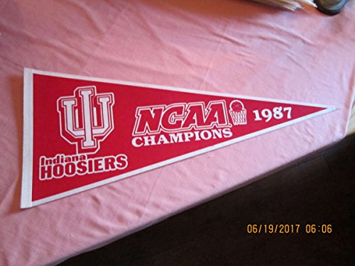 1987 Indiana Hoosiers (1987 Indiana Hoosiers NCAA Basketball Champions Pennant red)