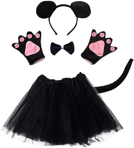 Disfraz de ratón Lot - ratón - para niña - niña - tutú - diadema ...