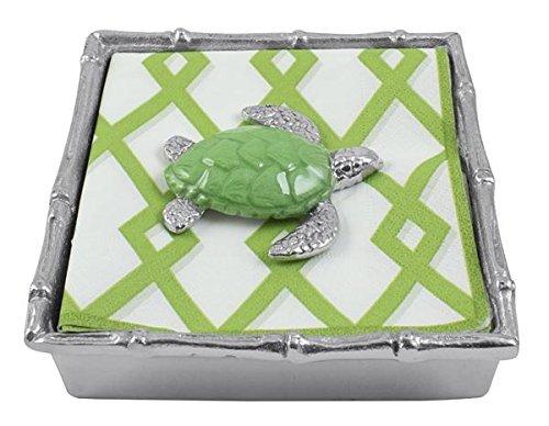 Mariposa Green Turtle Bamboo Napkin Box by Mariposa [並行輸入品]   B017YAMKOC