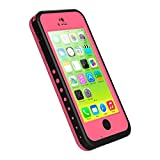 iPhone 5c Waterproof Case, iThrough Waterproof, Dust Proof, Snow Proof, Shock Proof Case with Touched Transparent Screen Protector, Heavy Duty Protective Carrying Cover Case for iPhone 5c