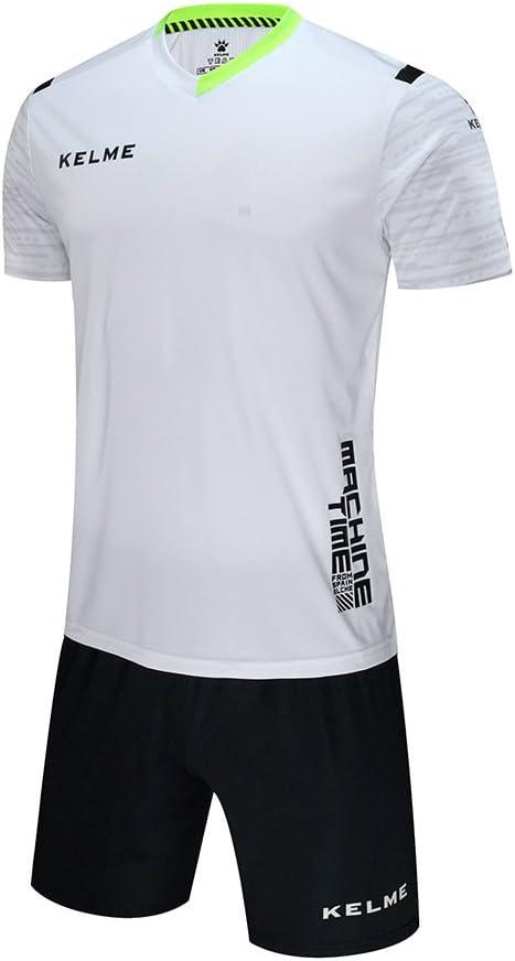 Kelme - Juego de camiseta de fútbol de manga corta, color blanco, tamaño extra-large: Amazon.es: Deportes y aire libre