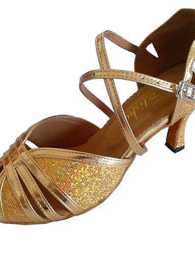 métrica nbsp;Latin nbsp;– nbsp;Piel tacón nbsp;– gefertigter dorado Glitter Dorado shangyi nbsp;– sintética nbsp;Mujer dSgnw0dx1