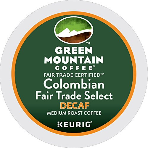 Green Mountain Coffee Roasters Colombian Fair Trade Select Decaf Keurig Single-Serve K-Cup Pods, Medium Roast Coffee, 72 Count (6 Boxes of 12 Pods) by Green Mountain Coffee