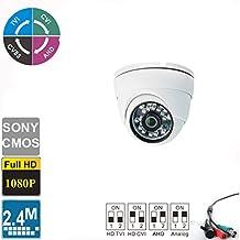 "Ezdiyworld-2.4MP Sony 1/2.7"" CMOS 4-in-1 Dome Indoor CCTV Security Camera TVI + CVI + AHD + Analog Signal 1080p (1920x1080) Sensor with IR-CUT 24IR LED Night Vision 2.8mm Lens"