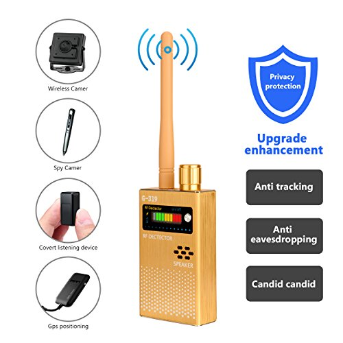 (Eilimy Anti-spy Wireless RF Signal Detector Set [Upgrade Enhanced] Bug GPS Camera Signal Detector, for Detecting Hidden Camera GPS Tracker Wireless Signal Detector(Ultra-high Sensitivity)