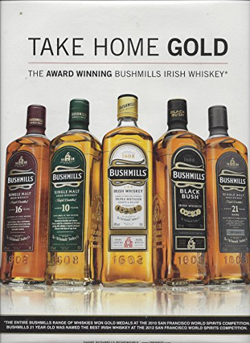 print-ad-for-2013-bushmills-irish-whiskey-take-home-gold-5-bottle-scene
