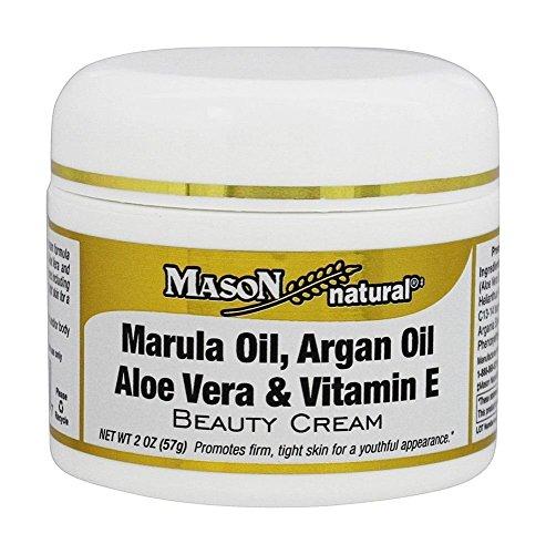 Mason Vitamins Marula Oil, Argan Oil, Aloe Vera & Vitamin E Beauty Cream, 2 oz Jar (Ounce Jar 2 Aloe)