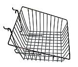 Slatwall/Gridwall Basket 12'' Long x 12'' Deep x 8'' High with 4'' Slant Black