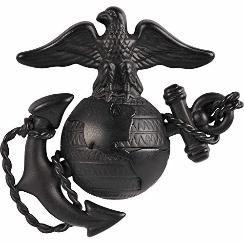 Medals of America Marine Corps Officer Dress Hat Badge Black - Marine Corps Shooting