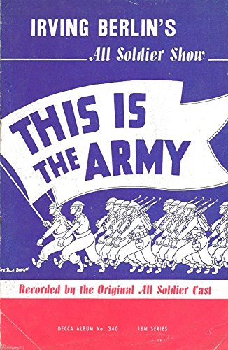 "Irving Berlin ""THIS IS THE ARMY"" All Soldier Cast 1942 Decca Records Brochure"