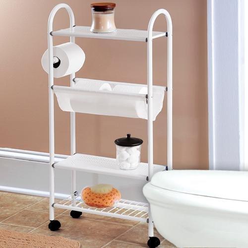 Slim Rolling Bathroom Organizer (Bathroom Storage Slim compare prices)
