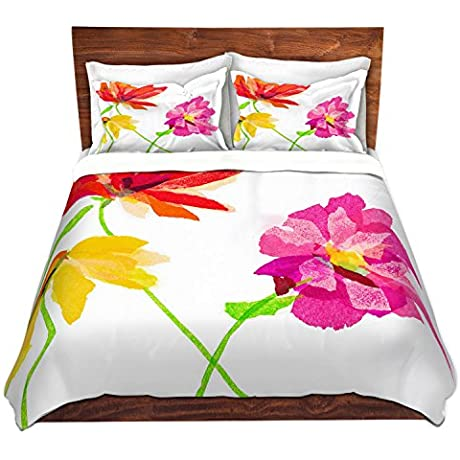 DiaNoche Designs Microfiber Duvet Covers Susan Pepe Spring Flower Lll