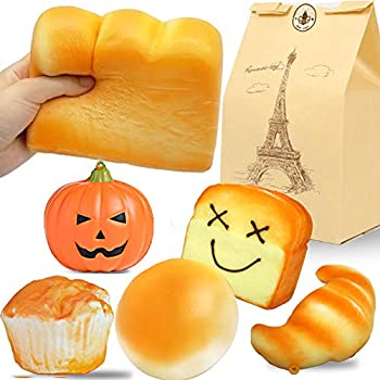 Bag Parts & Accessories Strict Ornament Toy Gift Collectibles With Tag Squeeze Jumbo Expression Chocolate Hand Pillow Bread Toast Bag Accessories