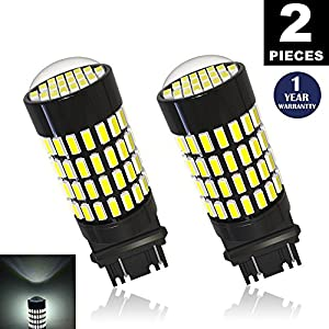 LUYED 2 X 1700 Lumens Extremely Bright 3157 4014 102-EX Chipsets 3056 3156 3057 3157 LED Bulbs Used for Backup Reverse Lights,Xenon White(Brightest LED in market)
