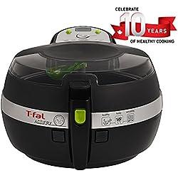T-Fal ActiFry Air Fryer with Air Fryer Cookbook, Ceramic Nonstick Pan, Dishwasher Safe, 2.2-Pound, Black, Model FZ7002