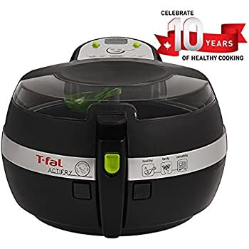 T-FAL ActiFry air Fryer, Cookbook air Fryer, faible en gras, 2,2 livres, noir