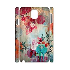 3D Case for Samsung Galaxy Note 3, Kathe Fraga Paintings, Inspired by Vintage Paris and Chinoiserie Ancienne. Case for Samsung Galaxy Note 3, Jumphigh White
