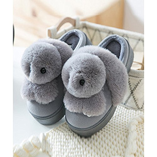 Lapin Gris Hiver Confortable Hiver Bambin Femmes Pantoufles Fuyingda Bebe Chaud Coton Peluche Animal Pantoufles Enfants amp; Chaussons Filles Chaussures Tq4xEd