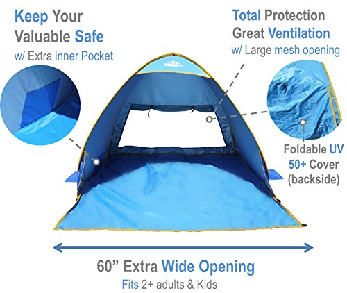 Outdoorsmanlab Automatic Pop Up Beach Tent Lightweight