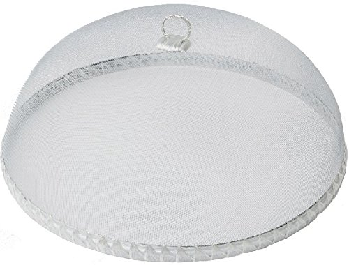 - Woodard & Charles Round White Food Domes, 14-Inch