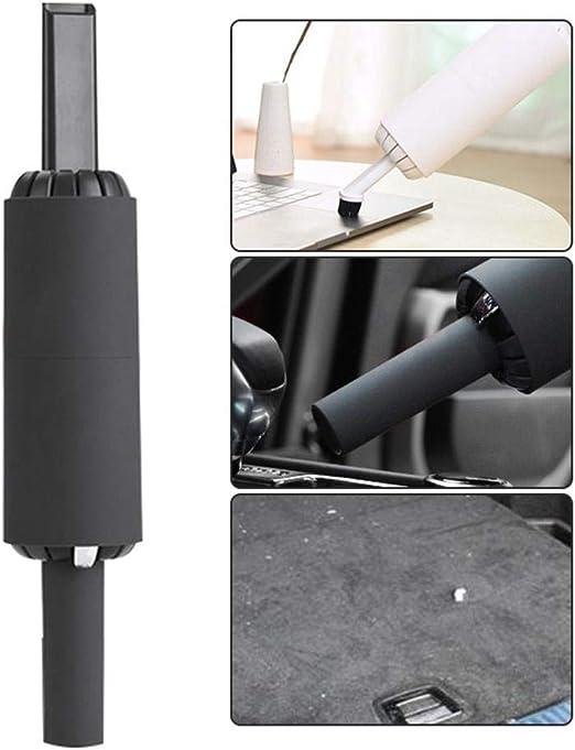 lesgos Aspirador de Mano, 2 en 1 Aspirador Recargable USB/Limpiador soplador, Mini Aspirador de Coche inalámbrico de Escritorio de Mano con Filtro HEPA para el automóvil de la Oficina en casa: Amazon.es: