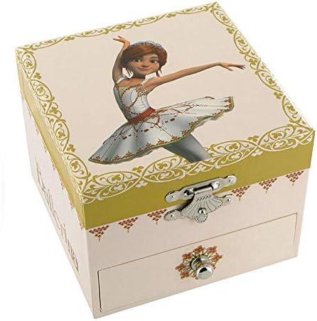 Schmuckk/ästchen // Schmuckdose // Schmuckschatulle aus Holz mit Spieluhr P. I. Tschaikowski Schwanensee tanzenden Ballerina und F/élicie-Dekor die kleine Ballerina aus dem Film Ballerina